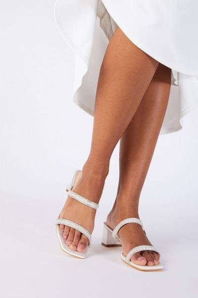 Bridal White Embellished Heeled Sandal