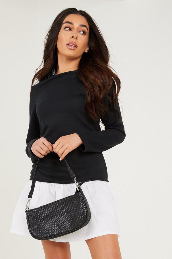 Petite Black Jumper Shirt Dress