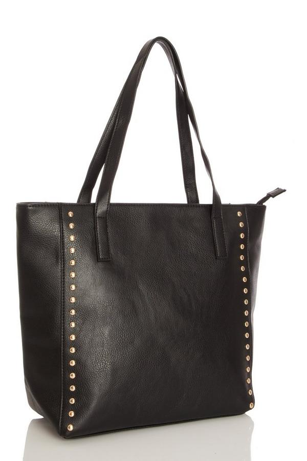 Black Stud Tote Bag