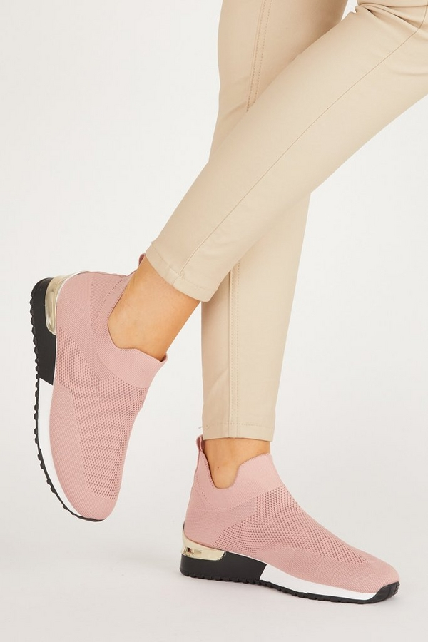Pink Knit Trainer