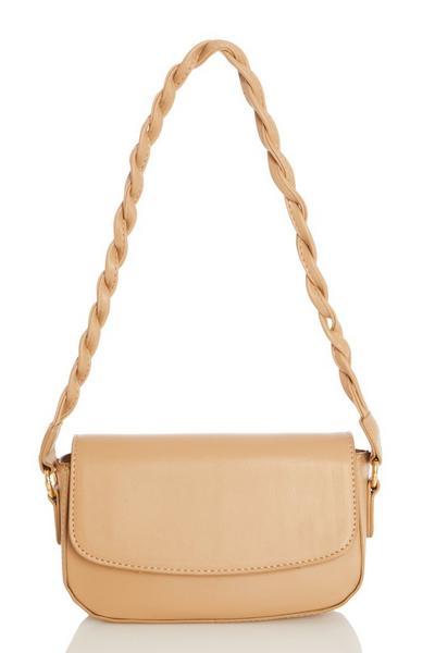 Nude Twist Strap Bag