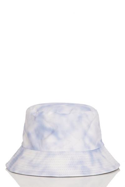 Pale Blue Tie Dye Bucket Hat