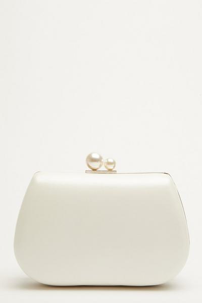 Bridal White Pearl Bag