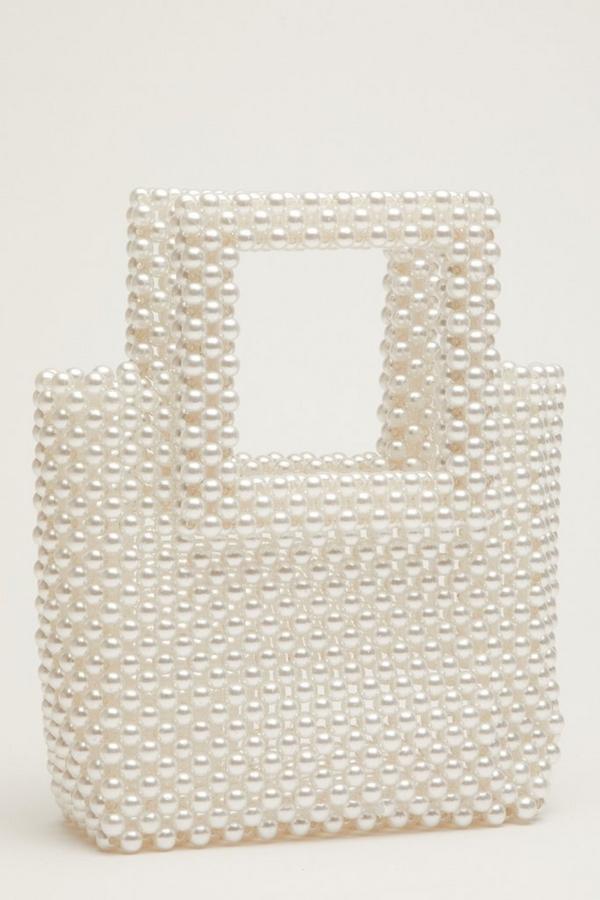 Bridal Cream Pearl Handbag