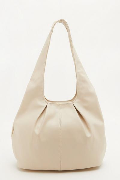 Nude Gathered Shoulder Bag