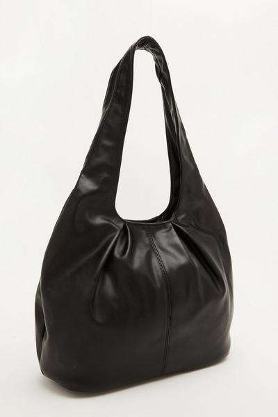 Black Gathered Shoulder Bag
