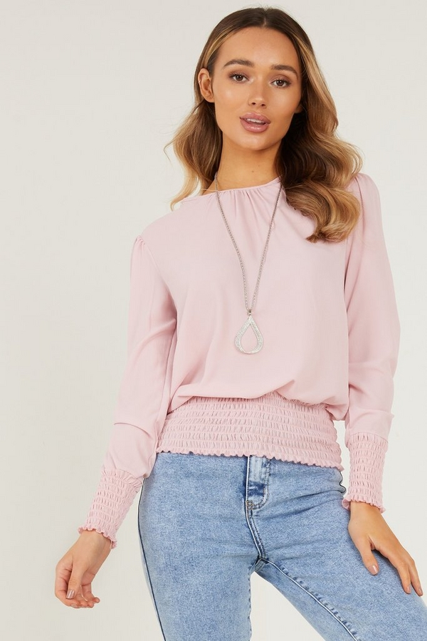 Pink Necklace Top