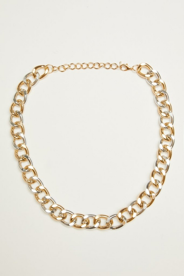 Gold & Silver Chunky Chain Necklace