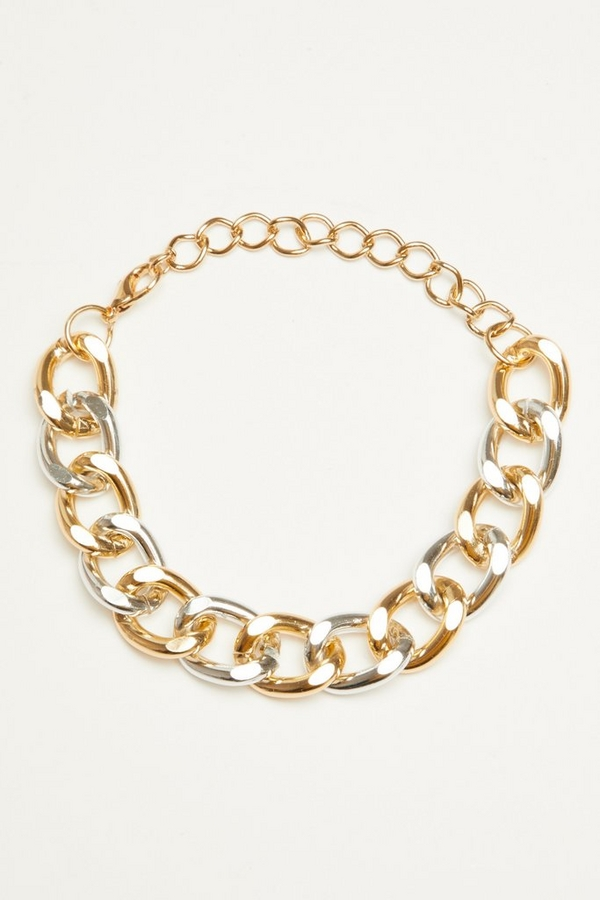 Gold & Silver Chunky Chain Bracelet