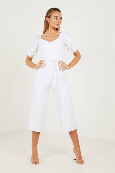 Cream Puff Sleeves Jumpsuit