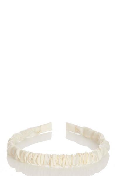 Cream Ruched Headband