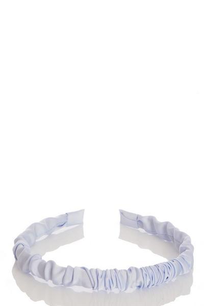 Blue Ruched Headband