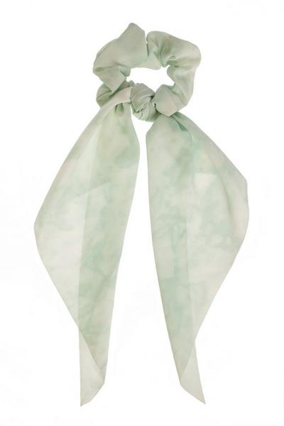 Mint Tie Dye Scrunchie