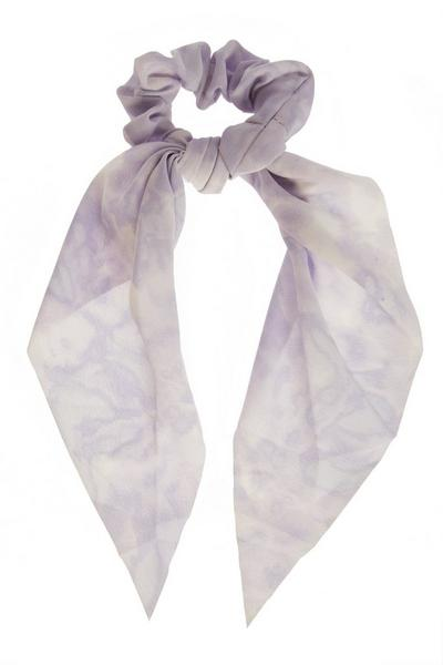 Lilac Tie Dye Scrunchie
