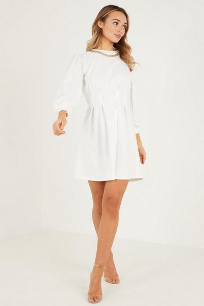 Cream Chain Dress