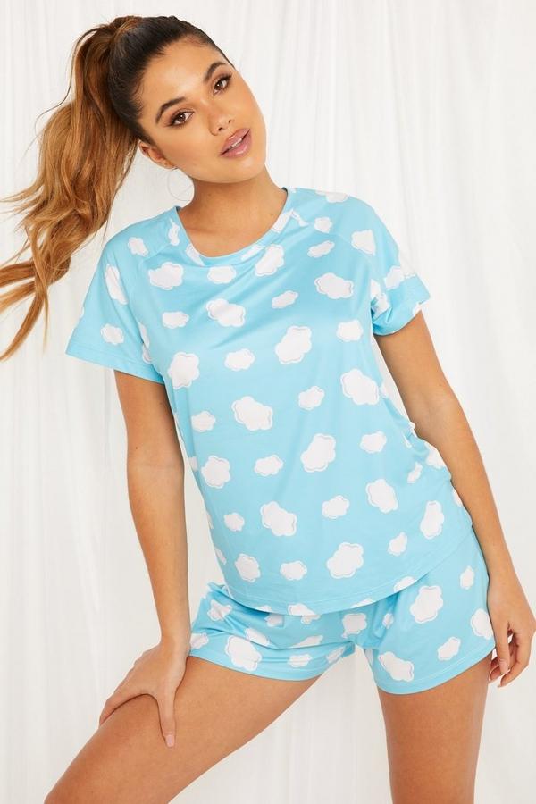 Blue Cloud Short Pyjama Set