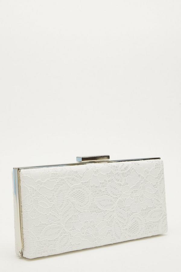 White Lace Clutch Bag