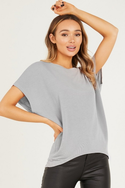 Grey Bow T Shirt