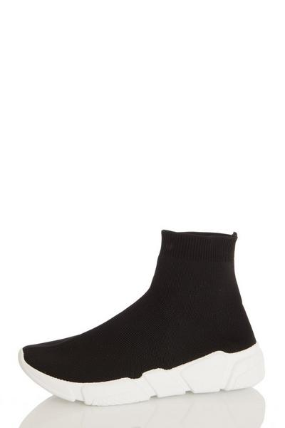 Black Knit Sock Trainer