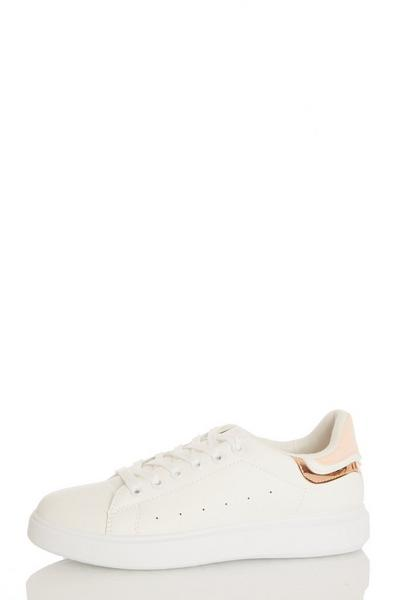 Pink Lace Up Trainer