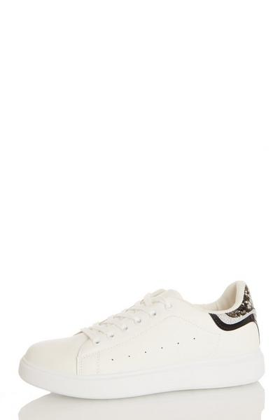 Snake Print Lace Up Trainer