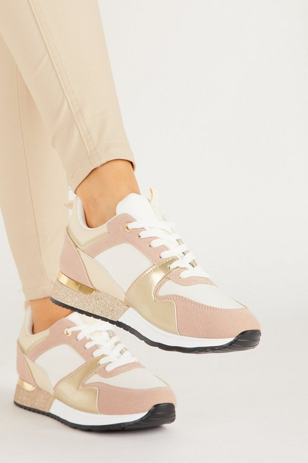 Rose Gold Chunky Trainer
