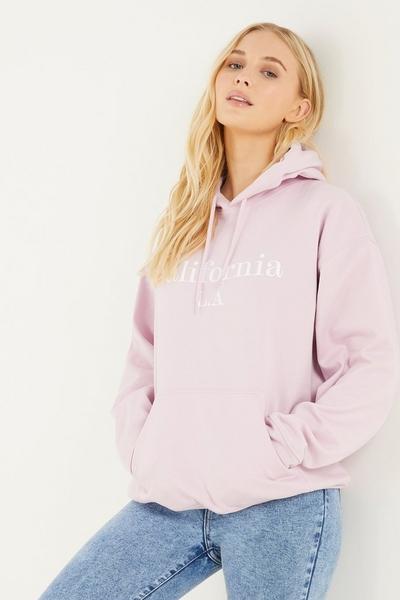 Lilac Slogan Hoodie