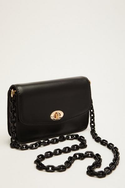 Black Plastic Chain Bag