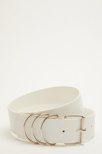 White Ring Buckle Belt