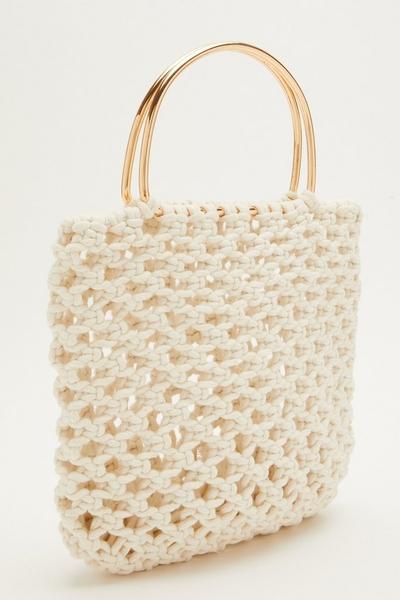 Cream Crochet Handbag