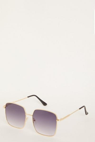 Grey Square Frame Sunglasses