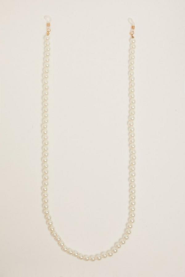 Cream Pearl Sunglasses Chain