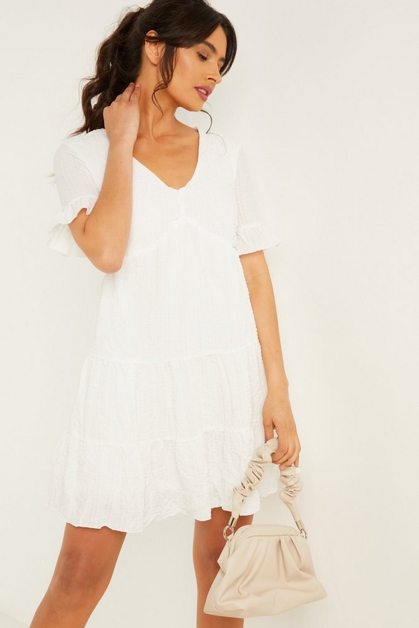 White Smock Dress