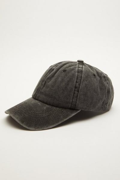 Grey Washed Denim Cap