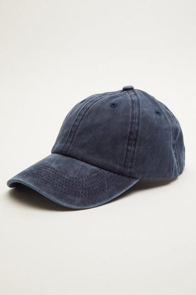 Navy Washed Denim Cap