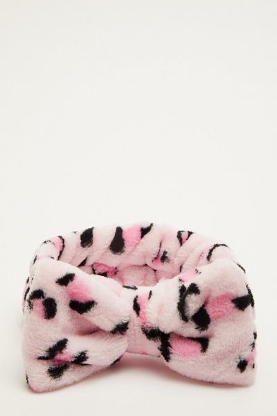 Pink Leopard Print Beauty Headband
