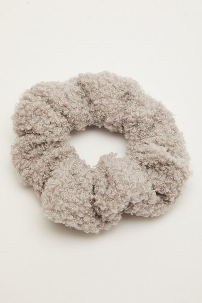 Grey Teddy Scrunchie