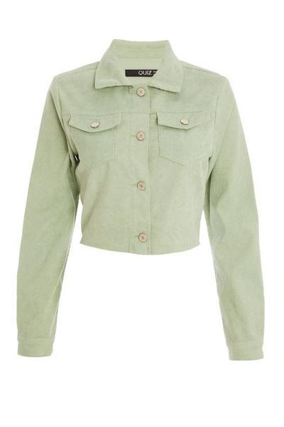 Sage Cropped Cord Jacket