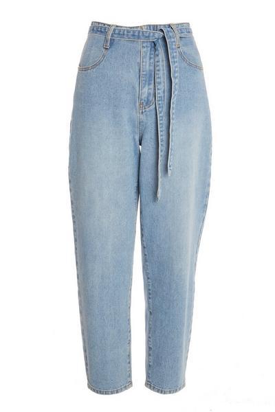 Blue Paper Bag Jeans