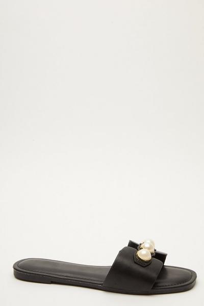 Black Pearl Mule Sandals