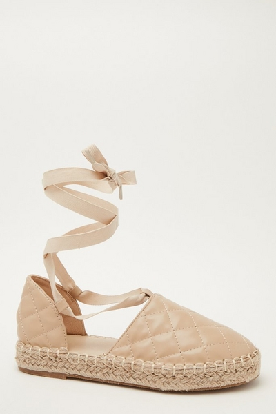 Nude Quilted Espadrilles