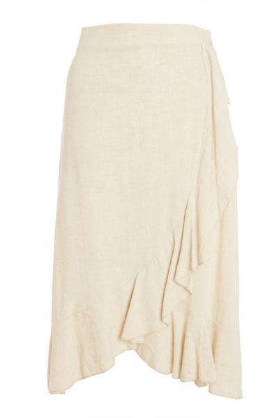 Stone Wrap Midi Skirt
