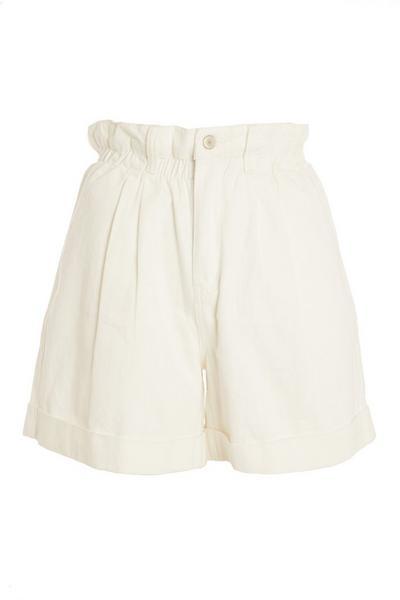 White Paperbag Shorts