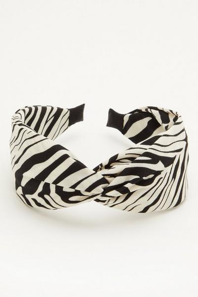 Black Zebra Headband