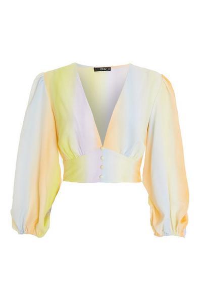 Multicoloured Tie Dye Crop Top