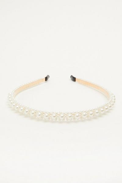 White Mixed Pearl Headband