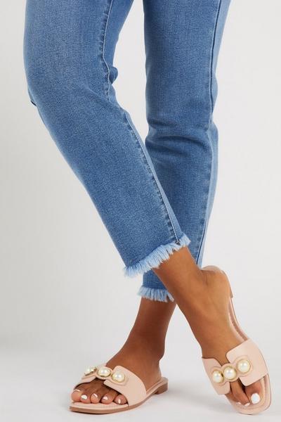 Pink Pearl Mule Sandals