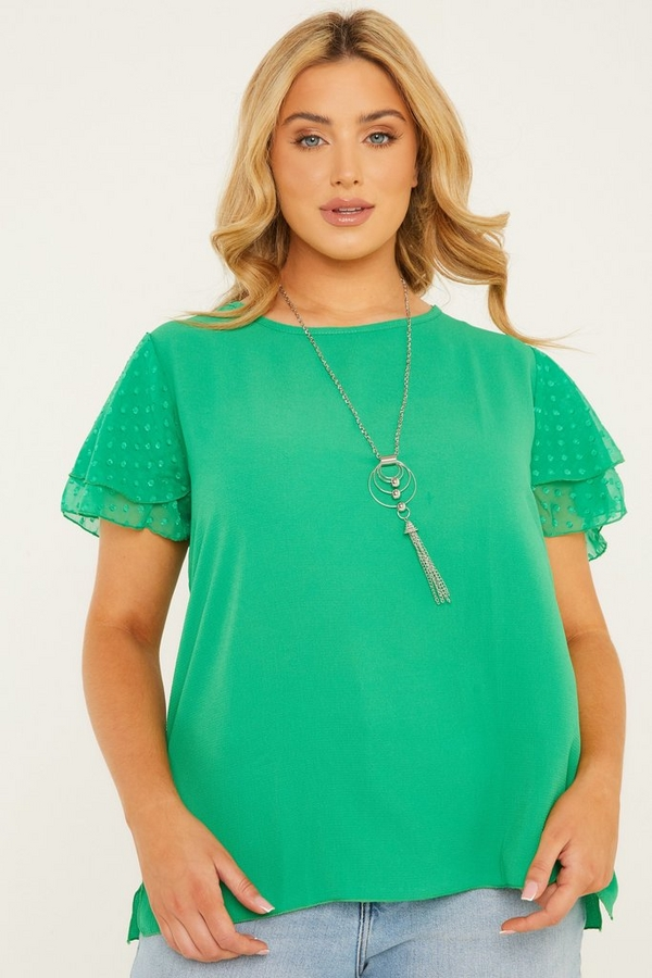 Curve Green Necklace Top