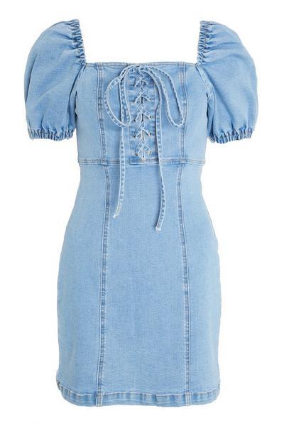 Blue Denim Bodycon Dress