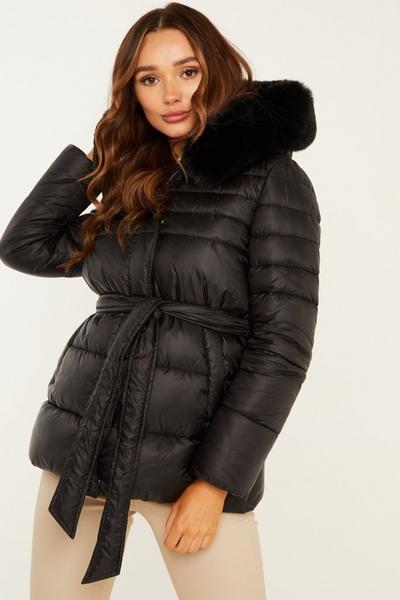 Black Padded Short Coat